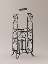 Black Iron Wire Basket - By - 1226456