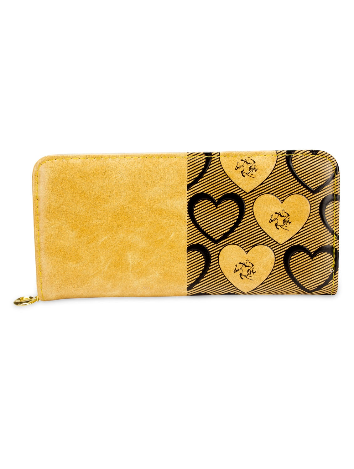 Yellow Leatherette Printed Clutch - By