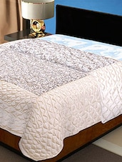 Beige Cotton Silk Cream Floral Printed  Double Bed Comforter -  online shopping for Quilts and comforters