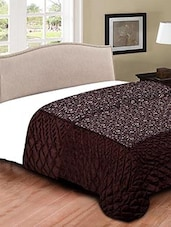 Brown Cotton Silk Floral Printed double bed comforter -  online shopping for Quilts and comforters