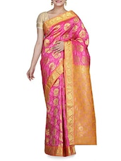 Pink Silk Saree With Blouse Piece - By