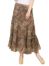 brown cotton maxi skirt -  online shopping for Skirts