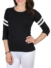 black cotton regular tee -  online shopping for Tees