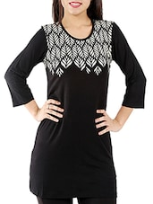 black viscose tunic -  online shopping for Tunics