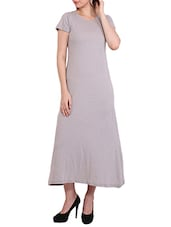 grey cotton maxi dress -  online shopping for Dresses