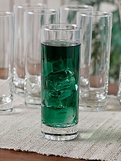 Tall Hi-Ball Beverage Glasses (Set of 6) -  online shopping for Glass Sets