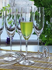 Champagne Flute Glass Set Of Six - By