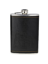 Black Stainless Steel Hip Flask - By