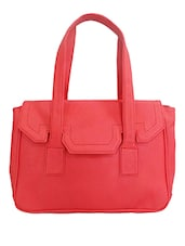 Pink Leatherette Shoulder Bag - By