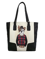 Multicolor Dog Printed Leatherette Shoulder Bag - By
