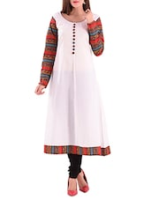 white cotton straight kurti -  online shopping for kurtis