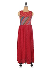 Multicoloured Silk Cotton Lace Dress - By