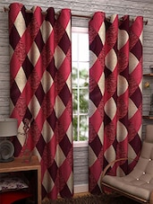 Red Nylon Set Of 3 Door Curtain - By