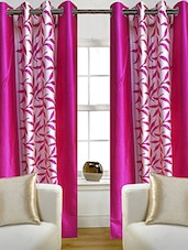 Pink Nylon Set Of 2 Door Curtain - By