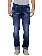 dark blue cotton jeans -  online shopping for Jeans