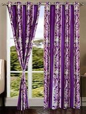 Purple Nylon Set Of 2 Door Curtain - By