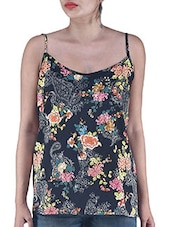 Multicolor Floral Printed Polyester Top - By