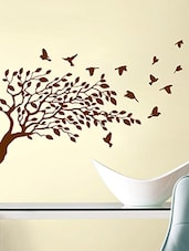 Decor Villa Tree And Flying Bird Wall Decal And Sticker - By
