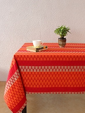 House This The 70C Chevron 100% Cotton Table Cover - Red - By