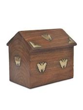 Brown Wooden Hut Money Bank - By
