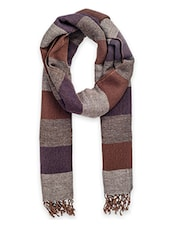 brown woollen stole -  online shopping for stoles