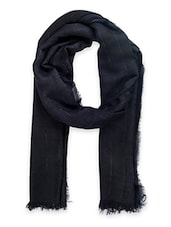 black woollen stole -  online shopping for stoles