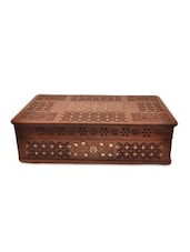 Brown Wooden Mughal Bangle Box - By