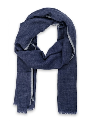 blue woollen stole -  online shopping for stoles