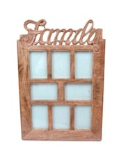 Brown Wooden Family Photo Frame - By