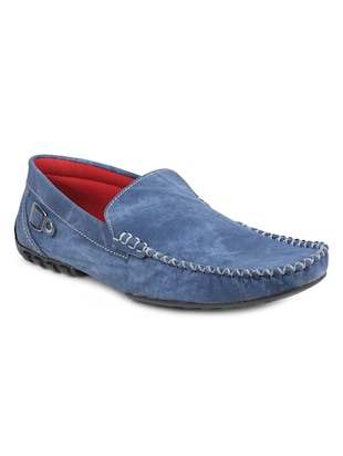 blue suede slip on loafers -  online shopping for Loafers