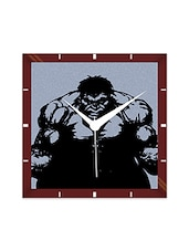 Multicolor Engineering Wood The Hulk Wall Clock - By