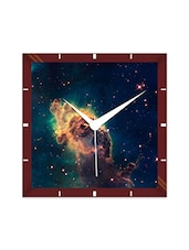 Multicolor Engineering Wood Space Stone Wall Clock - By