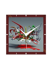 Multicolor Engineering Wood Color Blast Wall Clock - By