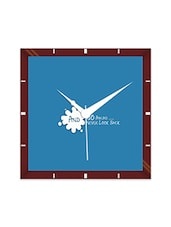 Multicolor Engineering Wood Go Ahead Wall Clock - By