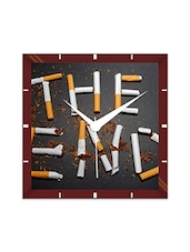 Multicolor Engineering Wood The End Wall Clock - By