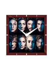 Multicolor Engineering Wood Game Of Thrones Characters Wall Clock - By