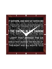 Multicolor Engineering Wood I Am The Sword Wall Clock - By