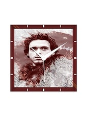 Multicolor Engineering Wood Robb Stark Wall Clock - By