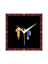 Multicolor Engineering Wood Goku Vegita Wall Clock - By