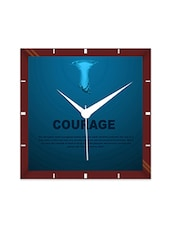 Multicolor Engineering Wood Courage Wall Clock - By