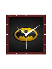 Multicolor Engineering Wood Batman Classic Logo Wall Clock - By