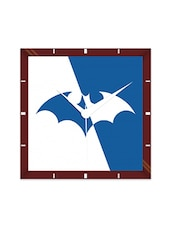 Multicolor Engineering Wood Batman Logo Wall Clock - By