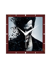 Multicolor Engineering Wood Joker's Expression Wall Clock - By