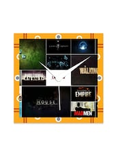 Multicolored Wooden Printed Wall Clock - By