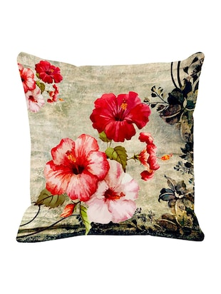 Leaf Designs Fiery Red Vintage Cushion Cover -  online shopping for Cushion Covers