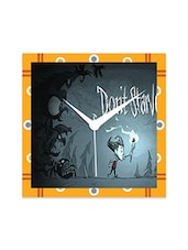 Multicolor Engineered Wood Don't Starve Wall Clock - By