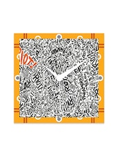 Multicolor Engineered Wood Awesome Riot Wall Clock - By