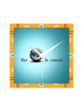Multicolor Engineered Wood The World Is Yours Wall Clock - By