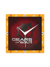 Multicolor Engineered Wood Gears Of War 2 Wall Clock - By