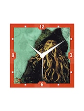 Multicolor Engineered Wood Davy Jones Wall Clock - By